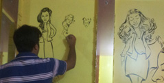 Wall Caricatures